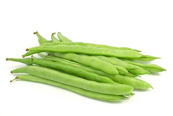 String beans isolated on white