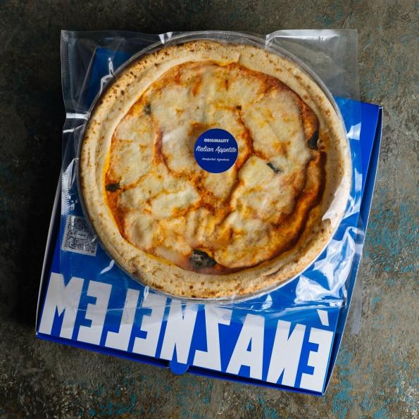 Frozen margherita pizza